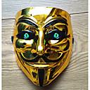 halpa Halloween- ja karnevaaliasut-V for Vendetta Cosplay-Asut Naamio Aikuisten Miesten Cosplay Halloween Halloween Karnevaali Masquerade Festivaali / loma PVC Hopea / Keltainen / Kultainen Karnevaalipuvut Color Block