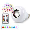abordables Lampe de croissance LED-e27 intelligent rgb bluetooth haut-parleur led ampoule lumière 7w musique jouant dimmable lampe led sans fil avec 24 touches télécommande