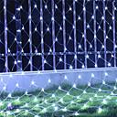 abordables Cabello Ondulado Natural-1 juego led cadena luz linterna 3x2 red de pesca luz hierba luz araña luz cielo estrellado luz a prueba de agua 8 función intermitente 110 v