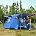 رخيصةأون مفارش و خيم و كانوبي-6 شخص خيمة التخييم العائلية في الهواء الطلق ضد الهواء مكتشف الأمطار التنفس إمكانية طبقة واحدة قطب الماسورة خيمة التخييم 2000-3000 mm إلى صيد السمك التسلق Camping / Hiking / Caving بوليستر