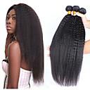 halpa Aitohiusperuukit-3 pakettia Brasilialainen Yaki Straight Remy-hius Hiukset kutoo Pidentäjä Bundle Hair 8-28 inch Luonnollinen väri Hiukset kutoo Pehmeä Klassinen Lovely Hiukset Extensions Naisten