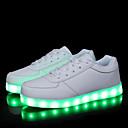זול סניקרס לגברים-בגדי ריקוד גברים אור נעליים PU אביב קיץ ספורטיבי / יום יומי נעלי ספורט נושם לבן / שחור