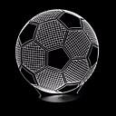 halpa Erikoislaitteet-jalkapallo 3d johti yövalo 7colors vaihdettava lamppu kosketusnäppäin lasten makuuhuone pöytä pöytä uutuus valaistus