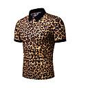 رخيصةأون زخرفة الجسم السيارات والحماية-رجالي بولو ستايل مقاس أوروبي / أمريكي قبعة القميص جلد نمر أبيض XL