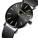 ieftine Cercei bărbați-Bărbați Ceas Elegant Quartz Oțel inoxidabil Negru / Auriu / Roz auriu Ceas Casual Analog Modă minimalist - Negru Auriu Roz auriu Un an Durată de Viaţă Baterie