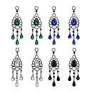 tanie Modne kolczyki-Damskie Kryształ Kolczyki zwisają Imitacja diamentu Kolczyki Kropla Biżuteria Fioletowy / Zielony / Królewski błękit Na Codzienny 1 para