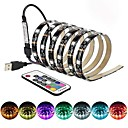 cheap LED Strip Lights-BRELONG LED TV backlight 5 meter 150LED epoxy waterproof multi-color USB TV backlight with infrared controller 17Keys remote Halloween TV computer background lighting 5V 1PC