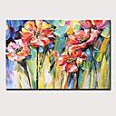 hesapli Natürmort Resimler-Hang-Boyalı Yağlıboya Resim El-Boyalı - Natürmort Çiçek / Botanik Modern Iç çerçeve dahil / Gerilmiş kanvas