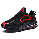 cheap Men's Athletic Shoes-Men's Comfort Shoes Faux Leather Spring & Summer Sporty / Preppy Athletic Shoes Running Shoes / Walking Shoes Breathable White / Black and White / Black / Red