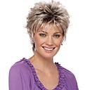 halpa Synteettiset peruukit ilmanmyssyä-Synteettiset peruukit Bouncy Curl Tyyli Pixie-leikkaus Suojuksettomat Peruukki Vaaleanruskea Vaalean ruskea Synteettiset hiukset 12 inch Naisten Naisten / synteettinen / Liukuvärjätty Vaaleanruskea
