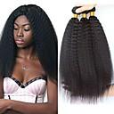 halpa Aitohiusperuukit-6 pakettia Brasilialainen Kinky Straight Remy-hius Hiukset kutoo Bundle Hair Yksi pakkaus ratkaisu 8-28inch Luonnollinen väri Hiukset kutoo Vesiputous Cute Turvallisuus Hiukset Extensions Naisten