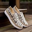 hesapli Erkek Düz Ayakkabıları ve Makosenleri-Erkek Ayakkabı Kanvas Bahar Mokasen & Bağcıksız Ayakkabılar Günlük için Siyah / Gri / Kırmzı