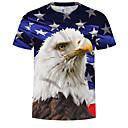 abordables Talkie-walkie-Tee-shirt Grandes Tailles Homme, Animal - Coton Imprimé Col Arrondi Arc-en-ciel XXXXL