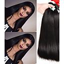 cheap Human Hair Weaves-6 Bundles Indian Hair Straight Unprocessed Human Hair Natural Color Hair Weaves / Hair Bulk Bundle Hair One Pack Solution 8-28 inch Natural Color Human Hair Weaves Life Soft Thick Human Hair