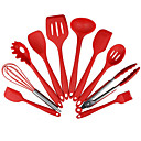 cheap Drinkware Accessories-10pcs Non-Stick Kitchenware Silicone Heat Resistant Kitchen Cooking Utensils Baking Tool Cooking Tool Sets
