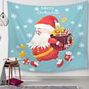 halpa Seinämaalaukset-Christmas Wall Decor Polyesteri Moderni Wall Art, Seinävaatteet Koriste