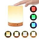 halpa Leivontavälineet-1kpl usb 5v yövalon kosketuslamppu makuuhuoneisiin olohuoneeseen kannettavat pöytäpöytävalaisimet ladattavalla sisäisellä akulla himmennettävä 2800k-3100k lämmin valkoinen valon väri muuttuva rgb