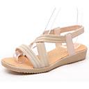 hesapli Kadın Sandaletleri-Kadın's Ayakkabı PU Yaz Sandaletler Düz Taban Günlük için Bej / Kırmzı / Mavi