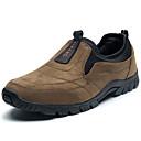 זול סנדלים לגברים-בגדי ריקוד גברים נעלי נוחות סוויד אביב יום יומי נעליים ללא שרוכים נושם אפור / חום / ירוק