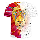 abordables Camisas de Hombre-Hombre Camiseta Animal Blanco XL
