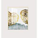 halpa Kehystetty taide-Kehystetty kanvaasi Kehystetty öljymaalaus - Abstrakti Asetelma Muovi Öljymaalaus Wall Art
