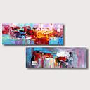 povoljno Apstraktno slikarstvo-ručno oslikana rastegnut ulje na platnu platnu spreman objesiti apstraktni stil materijala visoke kvalitete plava ljubičasta crvena