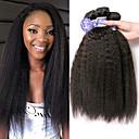 levne Prameny přírodních vlasů-3 svazky Peruánské vlasy Rovné, yaki Nezpracované lidské vlasy 100% Remy vlasy Weave svazky Vlasové ozdoby Lidské vlasy Vazby Bundle Hair 8-28 inch Přírodní barva Lidské vlasy Vazby Bez vůně Módn