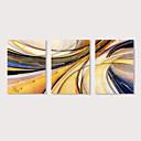 halpa Tulosteet-Painettu Pingoitetut kanvasprintit - Abstrakti Moderni 3 paneeli Art Prints