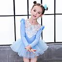 preiswerte Ballettbekleidung-Tanzkleidung für Kinder / Ballett Kleider Mädchen Training / Leistung Baumwolle Schleife(n) / Spitze / Kombination Langarm Normal Kleid