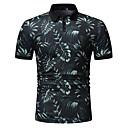 billige Bryllupsdekorasjoner-Bomull Skjortekrage EU / USA størrelse Polo Herre - Stripet / Fargeblokk, Lapper / Trykt mønster Grønn