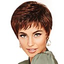 cheap Synthetic Capless Wigs-Synthetic Wig / Bangs Curly Style Free Part Capless Wig Brown Brown / Burgundy Synthetic Hair 12 inch Women's Fashionable Design / Women / Synthetic Brown Wig Short Natural Wigs / For Black Women