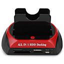 رخيصةأون تي في بوكس-LITBest USB 3.0 إلى IDE SATA محطة إرساء القرص الصلب الخارجي مع قارئ بطاقة (ق) / أداة خالية من التثبيت / مع منافذ أوسب / مع محول التيار المتردد الخارجي وشملت 4000 GB SKU1003