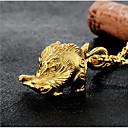 Недорогие Ожерелья с подвесками-Муж. Ожерелья с подвесками геометрический Животный принт Мода Хип-хоп Титановая сталь Золотой 60 cm Ожерелье Бижутерия 1шт Назначение Подарок Повседневные