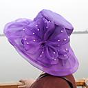 levne Ozdoby do vlasů na večírek-Dámské Kentucky Derby Party Sluneční klobouk-Jednobarevné Polyester Fialová Žlutá Světle hnědá