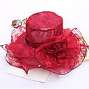 זול הד פיס למסיבות-אפור יין חאקי כובע שמש Kentucky Derby-אחיד תחרה מסיבה בגדי ריקוד נשים