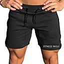 povoljno Projektori-Muškarci Sportski Kratke hlače Hlače - Jednobojni Crn Djetelina M L XL