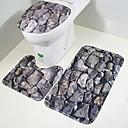 رخيصةأون سجاد-3 قطعات الحديث مماسح الحمام بلاستيك شفاف بدعة مضاد للانزلاق / خلاق