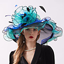 cheap Party Headpieces-Organza Headwear with Flower / Ruffle 1 Piece Wedding / Sports & Outdoor Headpiece