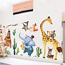 billige Vægklistermærker-kreative nordiske dyr dekoration væg mærkat tegneserie børns værelse soveværelse børnehave korridor selvklæbende maleri