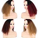 halpa Synteettiset hiuspidennykset-Laflare Ombre Synteettiset laajennukset Kihara Synteettiset hiukset Keskipitkä Hiusten pidennys hiukset kutoa 3 osainen Cosplay Säädettävä Paras laatu Naisten Joulu Häät Halloween