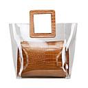 povoljno Clutch i večernje torbice-Žene Patent-zatvarač PU Torba s ručkom Krokodil Crn / Braon / Obala