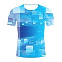 お買い得  iPhone 用ケース-男性用 プラスサイズ Tシャツ ラウンドネック カラーブロック ブルー