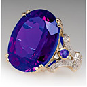 cheap Rings-Women's Synthetic Aquamarine Classic Promise Ring Joy Stylish Ring Jewelry Purple / Yellow / Blue For Wedding Party 7 / 8 / 9