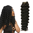 halpa Aitohiusperuukit-3 pakettia Brasilialainen Syvät aallot Käsittelemätön aitoa hiusta 100% Remy Hair Weave -paketit Headpiece Bundle Hair Aitohiuspidennykset 8-28 inch Luonnollinen Hiukset kutoo Hajuton Tanssia 100