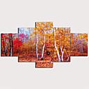 זול הדפסים-דפוס הדפסי בד מתוחים - L ו-scape מסורתי מודרני חמישה פנלים הדפסים אמנותיים