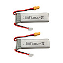 cheap RC Parts & Accessories-XK K130 7.4V 600mAh 2pcs Battery Rechargeable Battery