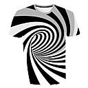 billige Fiskestænger-Rund hals Tynd Herre - Geometrisk EU / US størrelse T-shirt Hvid XXL