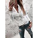 povoljno Naušnice-Majica Žene - Osnovni Dnevno Slovo Kragna košulje Slim Obala XL / Proljeće / Jesen