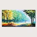זול ציורי נוף-ציור שמן צבוע-Hang מצויר ביד - L ו-scape נוף אבסטרקט מודרני כלול מסגרת פנימית