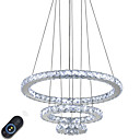 cheap Pendant Lights-Chandelier Ambient Light Electroplated Metal Crystal, Adjustable, Dimmable 110-120V / 220-240V Dimmable With Remote Control LED Light Source Included / LED Integrated